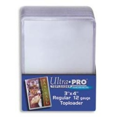 3x4 Single Card Toploader (25ct)