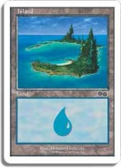 Island - E [Urza's Saga, Hills on Right]