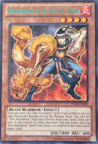 Brotherhood of the Fire Fist - Snake - Green - DL18-EN009 - Rare - Unlimited Edition