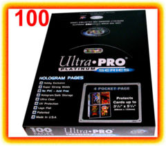 Ultra Pro Platinum Series 4-Pocket Pages (For Oversized Cards)