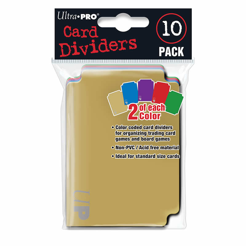 Card Dividers Colour Coded - Pack of Ten