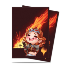 Ultra Pro 100ct Standard Sleeves - Chibi Chandra - Laughing