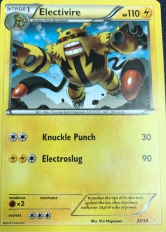 Electivire - 25/30 - XY Trainer Kit: Pikachu Libre & Suicune (Pikachu Libre)
