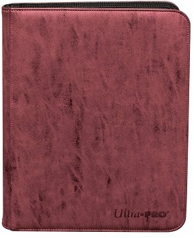Ultra Pro 9-Pocket Suede Collection Pro-Binder - Ruby
