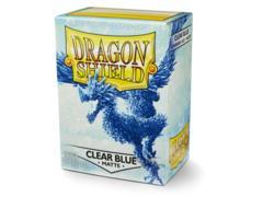 Dragon Shield 100ct Standard Sleeves - Matte Clear Blue