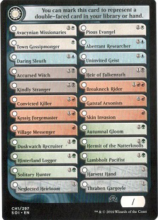 Checklist Card (CH1) - Shadows Over Innistrad - Magic Singles