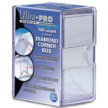 Diamond Corners 100 Count Clear Card Storage Box