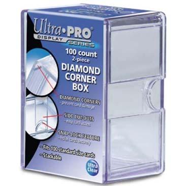 Diamond Corners 100 Count Clear Card Storage Box
