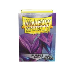 Dragon Shield 100ct Standard Sleeves - Matte Non-Glare Purple