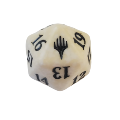 Magic D20 Spindown Dice - White Planeswalker Symbol