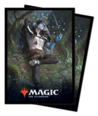 Ultra Pro MTG 100ct Throne of Eldraine Standard Sleeves - Oko, Thief of Crowns