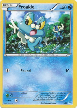 Froakie - 11/30 - XY Trainer Kit: Pikachu Libre & Suicune (Suicune)