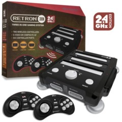 SNES/ Genesis/ NES RetroN 3 Gaming Console 2.4 GHz Edition (Onyx Black) - Hyperkin
