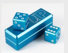 Gravity Dice (Cobalt) | D6 Dice Set (2)