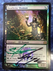 Deathrite Shaman - Foil Autographed