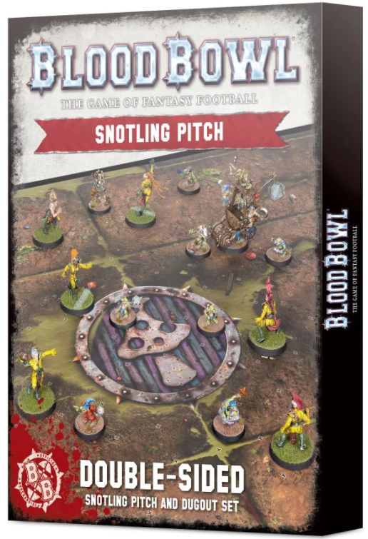 Blood Bowl - Double Sided Snotling Pitch and Dugout Set