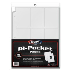 BCW 18-Pocket Pages - 10 Pack White