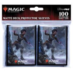 Kaldheim 100ct Sleeve featuring Kaya the Inexorable for Magic: The Gathering