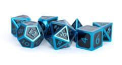 Blue with Black Enamel 16mm Polyhedral Dice Set