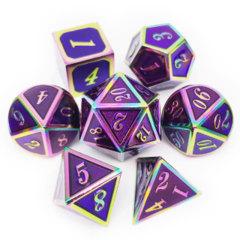 DAD525 - Metal & Enamel Dice Set (7pcs) [Purple Iridescence]