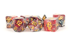 Particle Red And Black 16mm Resin Poly Dice Set