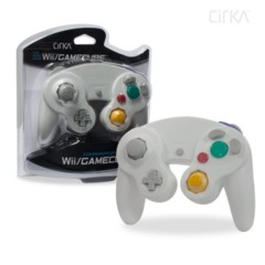 Wii/ GameCube Wired Controller (White) - CirKa