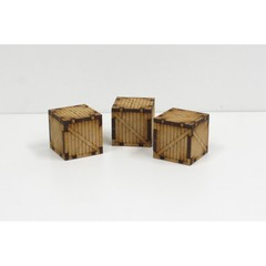 3 Small Wooden Containers