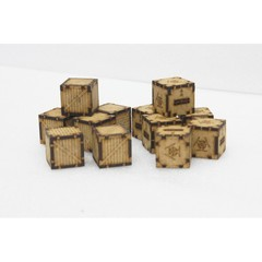 12 Chemical and Wooden Containers Pack