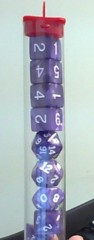 Koplow - Pearl Polyhedral - Purple and White 10 Dice Set
