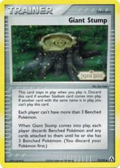 Giant Stump - 75/92 - Uncommon - Reverse Holo