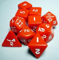 Koplow - Polyhedral - Red and White 10 Dice Set in Tube