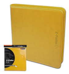 BCW Z-Folio LX - Yellow with Orange Stitch (20/12 Pocket Double Pages)