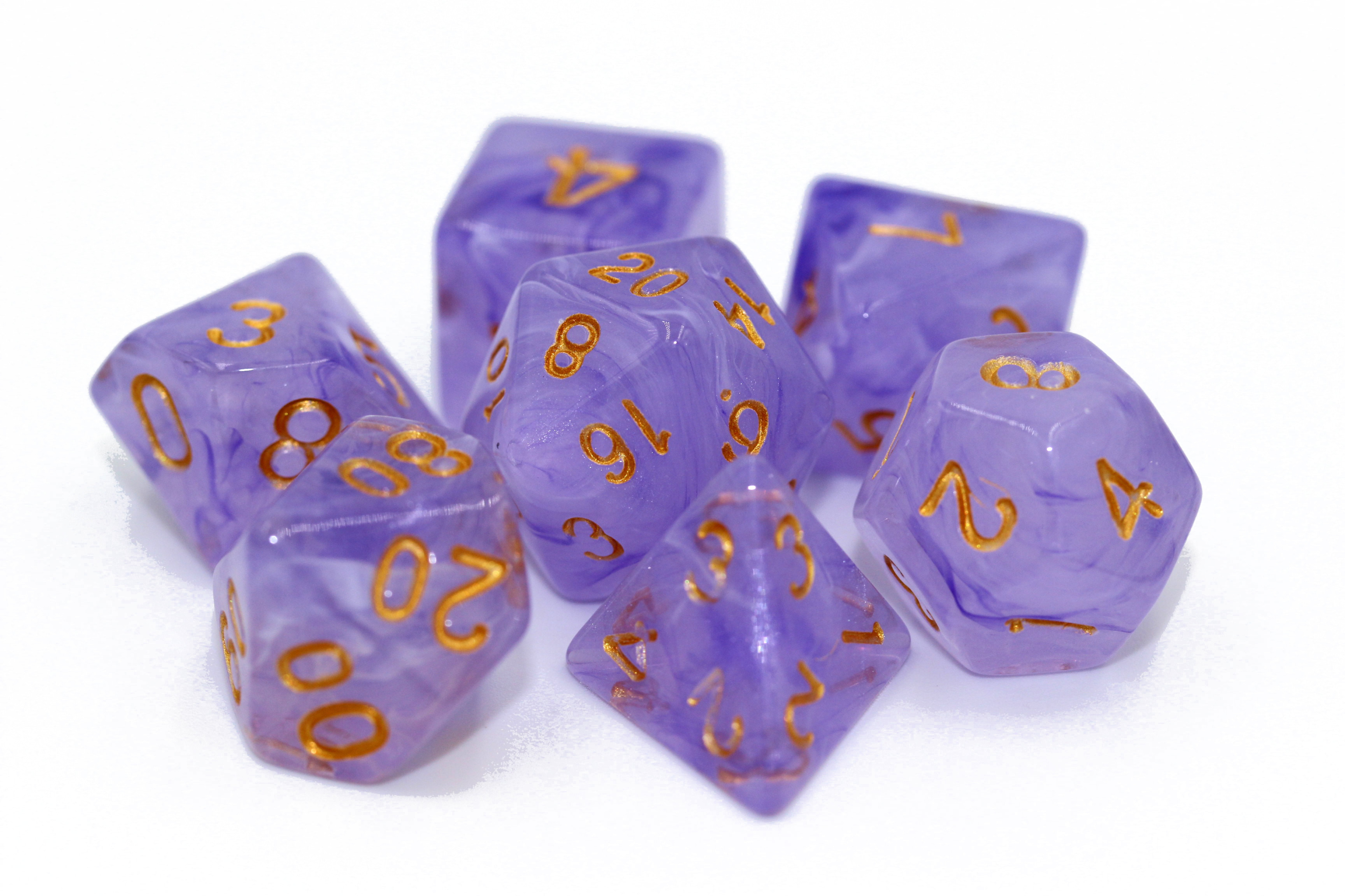 Lavender 16mm Poly Dice Set