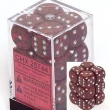 Chessex 25744 Dice d6 Set: Silver Volcano - 16mm Six Sided Die (12) Block of Dice