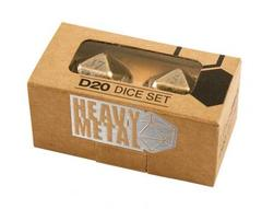 Heavy Metal D20 Dice Set gold
