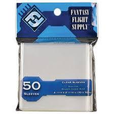 Fantasy Flight - Square Board Game Size - 50ct - Clear