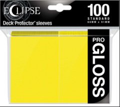 Ultra Pro - Standard Deck Protectors: Eclipse Pro-Gloss Lemon Yellow 100 ct