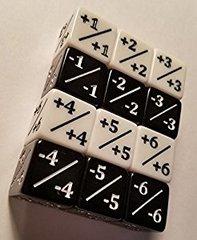 Black/White 4 Dice Counter Set
