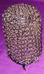 Kittensoft Chainmail Medium Dice Bag With String (J6/MB-A) Silver