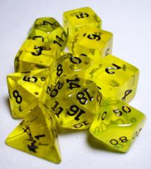 Koplow - Transparent Polyhedral - Yellow and White 10 Set