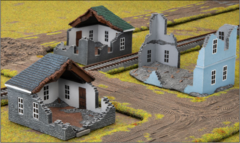 (BB199) Battlefield in a Box: Ruined Buildings