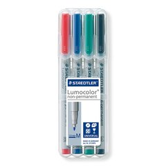 Staedtler Lumocolor Medium Non-Permanent Markers (Pack of 4)