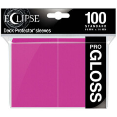 Ultra Pro - Standard Deck Protectors: Eclipse Pro-Gloss Pink 100 ct