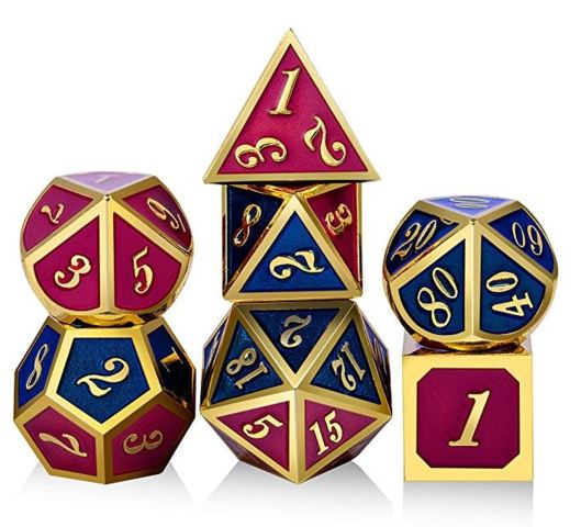 Metal & Enamel Dice Set (7pcs) [Napoleon]