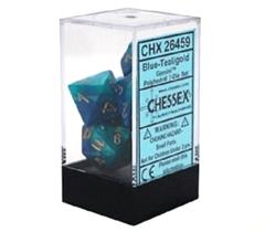 Chessex 26459 Gemini Blue-Teal/Gold 7 Dice Set