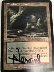 Bloodstained Mire - Signed - Black Ink