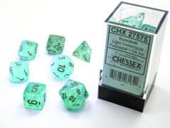 CHX: 27575 Light Green/ Gold Polyhedral 7-Die Set