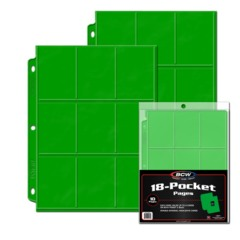 BCW 18-Pocket Page - Green