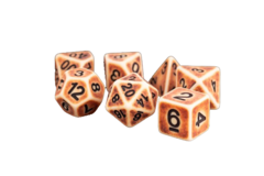 Ancient Brown 16mm Resin Poly Dice Set