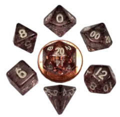 Mini Polyhedral Dice Set - Ethereal Black